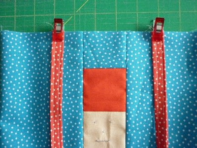 How to sew a patchwork tote. Easy Peasy Mini Tote Pattern - Step 7