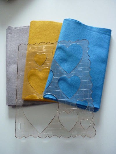 How to make an embellished cushion. Be Still My Beating Heart Cushion - Step 1