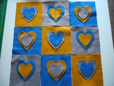 How to make an embellished cushion. Be Still My Beating Heart Cushion - Step 5
