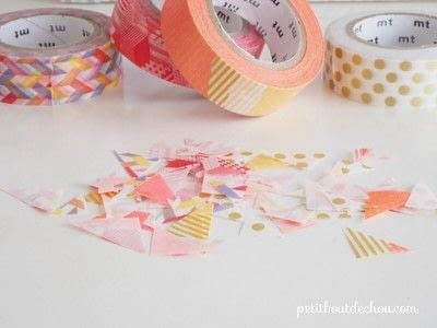 How to make a notebook journal. Diy Notebook Butterflies Cover With Masking Tape - Step 2