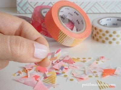 How to make a notebook journal. Diy Notebook Butterflies Cover With Masking Tape - Step 3