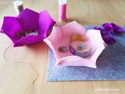 How to sew a fabric basket. Diy Flower Shaped Felt Basket - Step 3