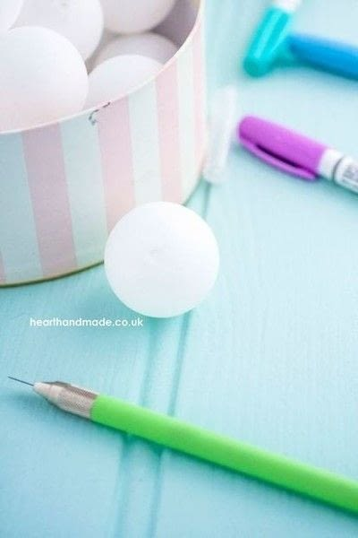 How to make fairy lights. How To Make Polka Dot Ping Pong Ball Party Lights! - Step 2