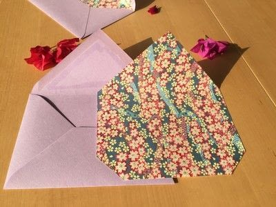 How to make an envelope. Diy: Japanese Paper Envelope Styling - Step 1