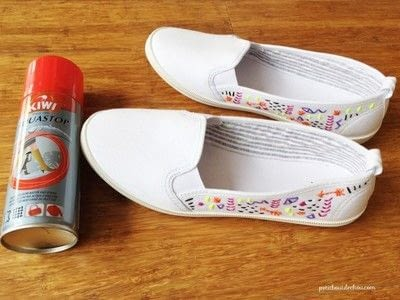 How to make a pair of embellished shoes. Diy: Custom Summer Shoes Embroidery - Step 4
