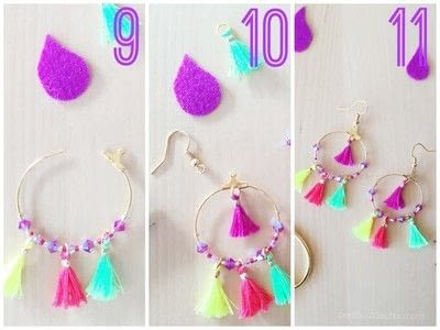 How to make a tassel earring. Diy: Summer Mini Tassel Earrings - Step 3