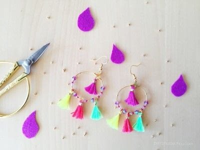 How to make a tassel earring. Diy: Summer Mini Tassel Earrings - Step 4