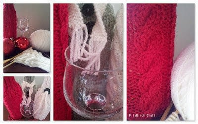 How to make a bottle cover. Christmas (And Other Occasions) Wine Cosies - Step 1