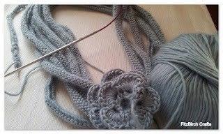 How to make a cowl. Rose Medusa Cowl - Step 1