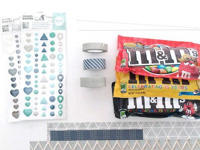 How to make a greetings card. M&Ms Bow Tie Card For Father's Day - Step 1