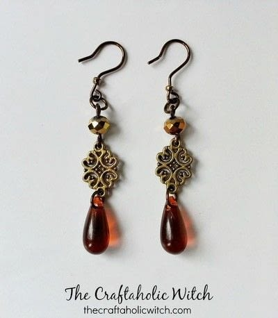 How to make a dangle earring. Create Simple Boho Style Earrings - Step 4