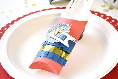 How to make a placemat. Patriotic Place Setting - Step 2