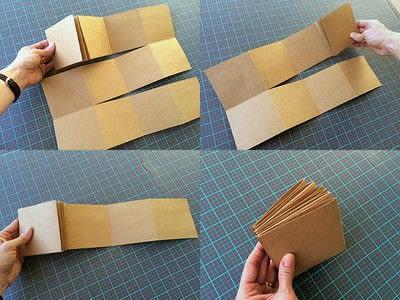 How to make a photo album. Easy DIY Fold Out Photo Album - Step 3