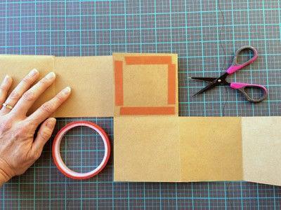 How to make a photo album. Easy DIY Fold Out Photo Album - Step 4