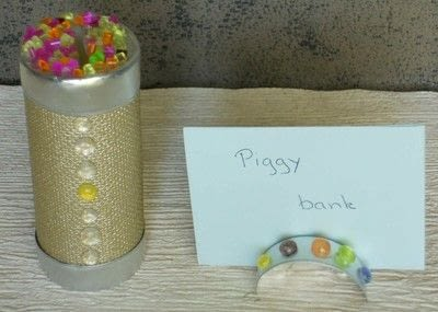 How to make a paper box. With aluminium Cups : 2 -  Piggy Bank - Step 1