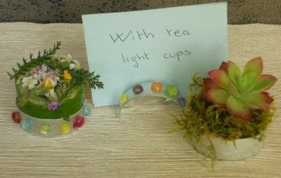 How to make a bouquet. With aluminium Cups : 3 - Small Bouquets - Step 1