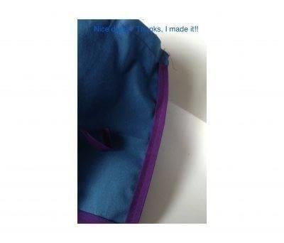 How to make a gift bag. Drawstring Gift Bag - Step 5