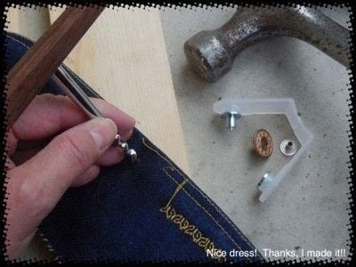 How to rip a pair of ripped jeans. Distressing Denim, Topstitching And Attaching Jeans Rivets/Buttons - Step 9
