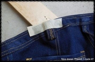 How to rip a pair of ripped jeans. Distressing Denim, Topstitching And Attaching Jeans Rivets/Buttons - Step 13