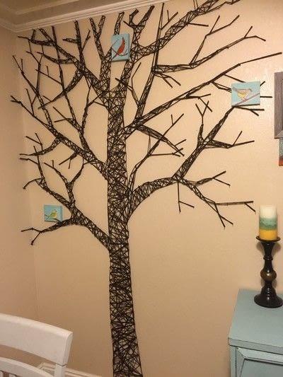 How to make wall decor. Fun Tree String Art - Step 7