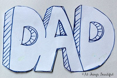 How to make a papercraft. A Father's Day Craft For Kids - Step 1