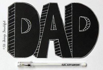 How to make a papercraft. A Father's Day Craft For Kids - Step 2