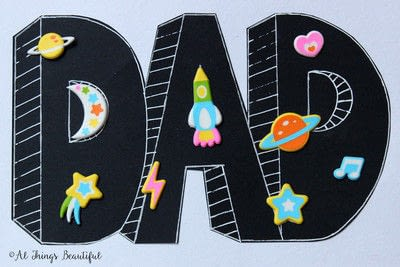 How to make a papercraft. A Father's Day Craft For Kids - Step 3