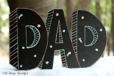 How to make a papercraft. A Father's Day Craft For Kids - Step 5