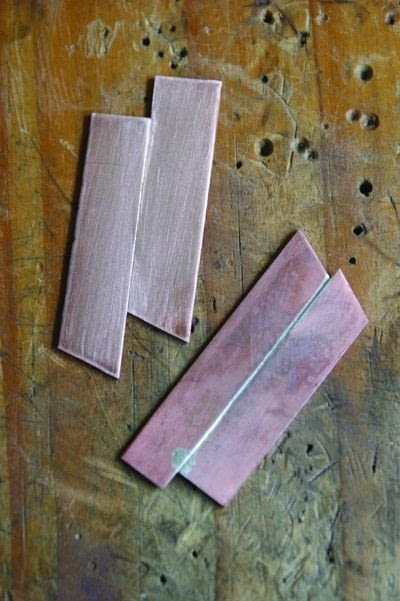 How to solder a piece of jewelry. Joining Pieces Of Flat Metal - Step 2
