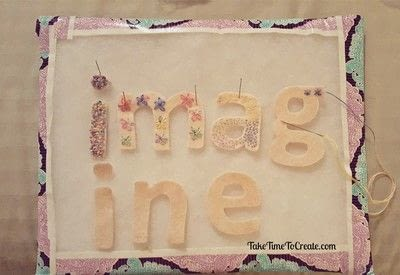 How to make a garland. Embroidered Imagine Garland - Step 1