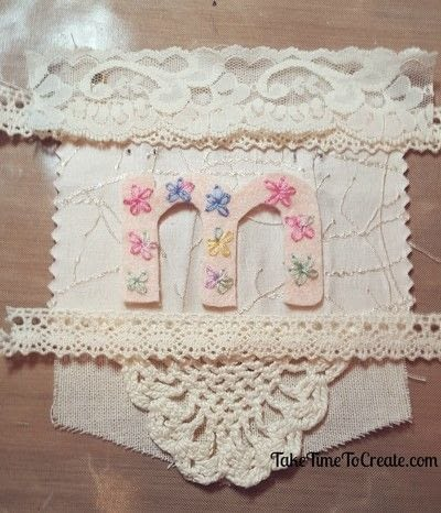 How to make a garland. Embroidered Imagine Garland - Step 2