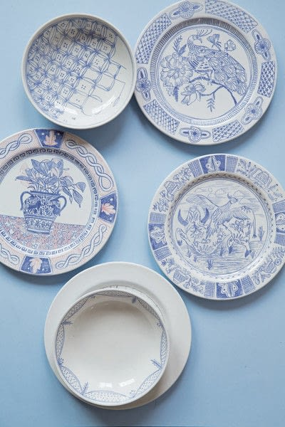 How to make a plate. DIY Delftware - Step 7