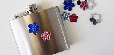 How to make a party supply. Diy Customised Hip Flask With Glitter & Gems - Step 1
