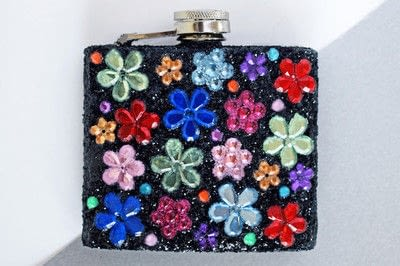 How to make a party supply. Diy Customised Hip Flask With Glitter & Gems - Step 3