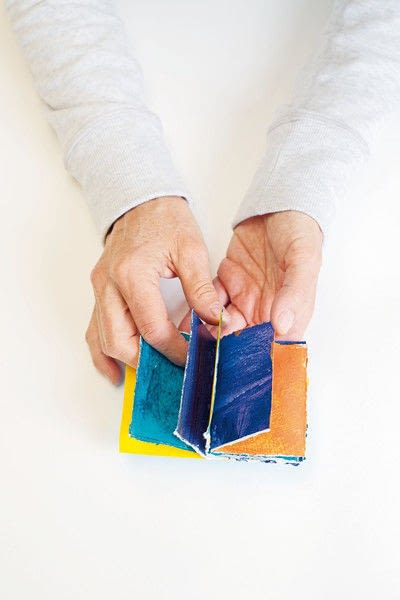 How to make a journal. Folded Or Sewn Books - Step 7