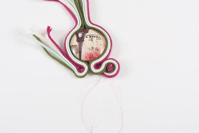 How to make a lamp / lampshade. Soutache Lampshade - Step 10