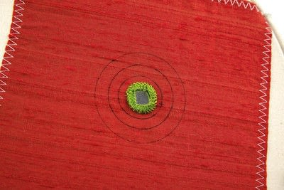 How to stitch a stitched brooch. Raised Embroidery Brooch - Step 3