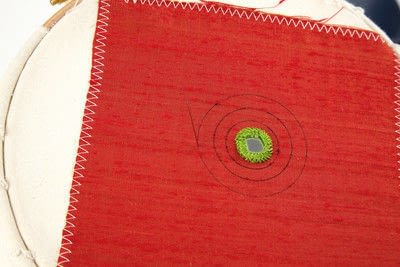 How to stitch a stitched brooch. Raised Embroidery Brooch - Step 4