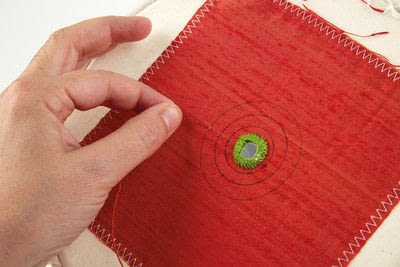 How to stitch a stitched brooch. Raised Embroidery Brooch - Step 7
