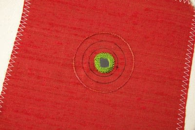 How to stitch a stitched brooch. Raised Embroidery Brooch - Step 9