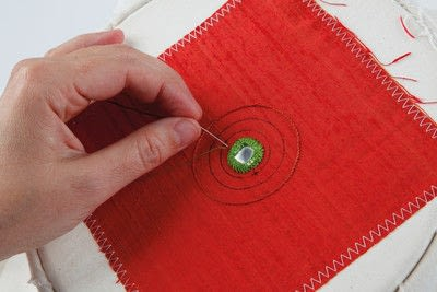 How to stitch a stitched brooch. Raised Embroidery Brooch - Step 10