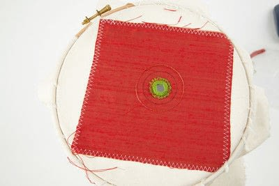 How to stitch a stitched brooch. Raised Embroidery Brooch - Step 15