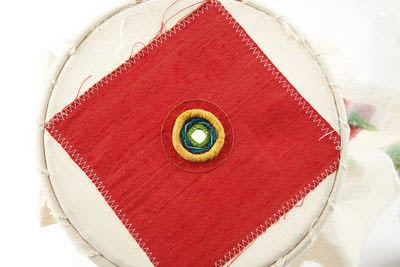 How to stitch a stitched brooch. Raised Embroidery Brooch - Step 20