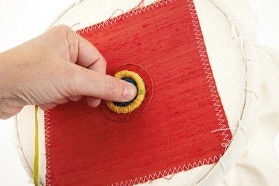 How to stitch a stitched brooch. Raised Embroidery Brooch - Step 21