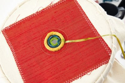 How to stitch a stitched brooch. Raised Embroidery Brooch - Step 24