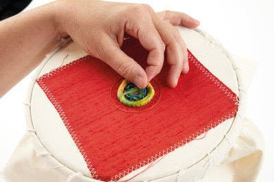 How to stitch a stitched brooch. Raised Embroidery Brooch - Step 25