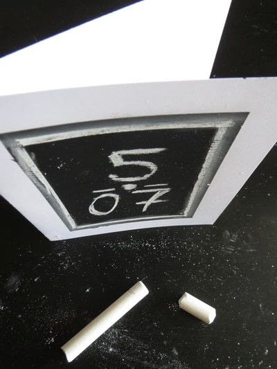 How to make a greetings card. Chalkboard Cards - Step 3