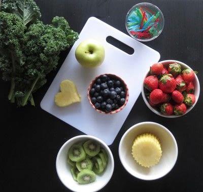 How to make a fruit dessert. Delectable Decorations Fruit Design - Step 1