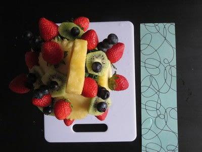 How to make a fruit dessert. Delectable Decorations Fruit Design - Step 5