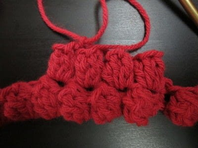 How to knit a puff stitch scarf. Studio Infinity Scarf - Step 1